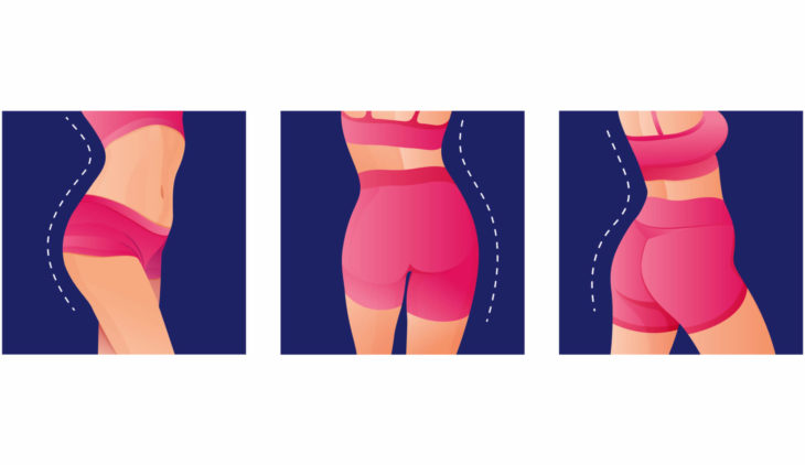 How do you lose weight off your buttocks for a woman