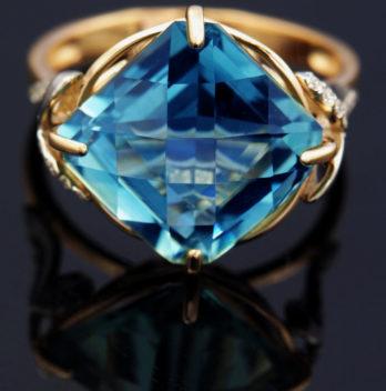 golden blue topaz properties